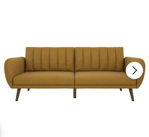Like New Mustard Futon for Sale in Brooklyn, NY