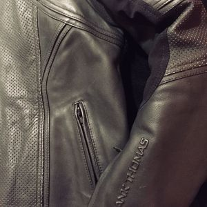 Leather motorcycle jacket/with armor for Sale in Gresham, OR