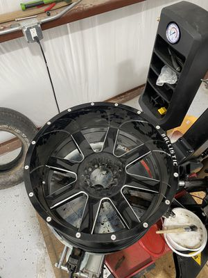 22x12 -51 rims only for Sale in Midland, TX