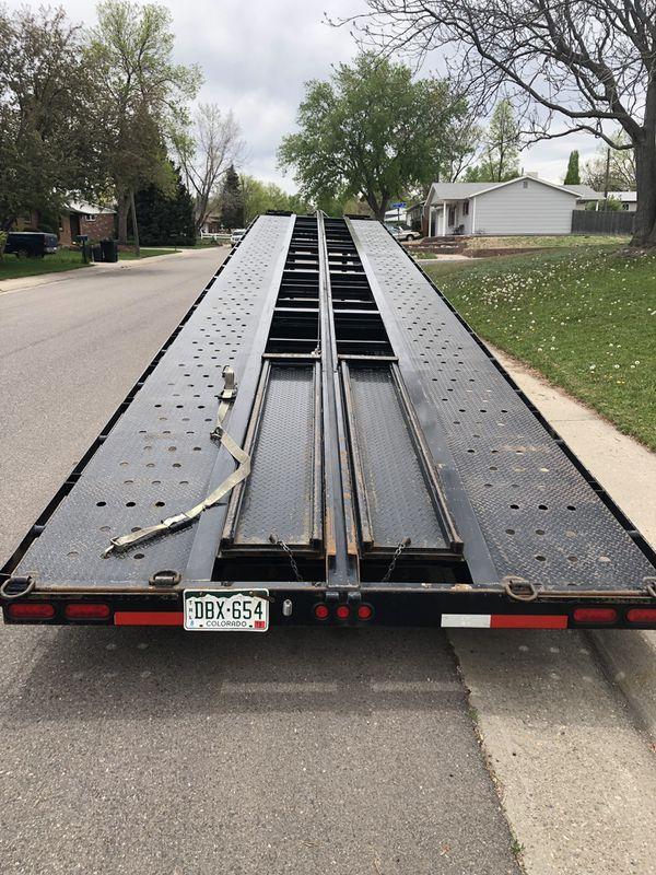 2018 Texas Pride 51' wedge car hauler