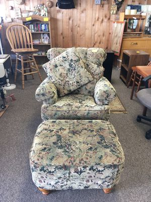 Chair & Ottoman for Sale in Big Rapids, MI