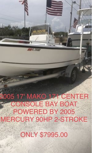 2005 17' MAKO 171 CENTER CONSOLE BAY BOAT POWERED BY 2005 MERCURY 90HP 2-STROKE for Sale in Oakland Park, FL