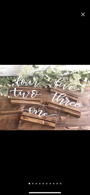 Acrylic clear table numbers for Sale in Phoenix, AZ