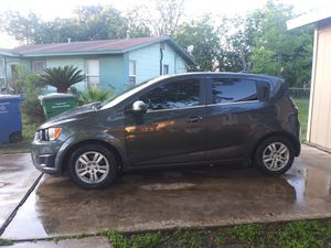 Chevy Sonic low miles 8500 good on miles $5000 or best offer on gas has a 1.8 motor blue title in hand for Sale in San Antonio, TX