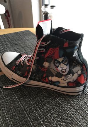 Brand new Harley Quinn Convers all star sneakers for Sale in Orlando, FL