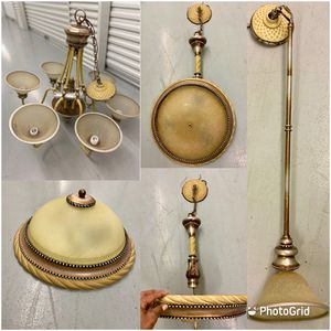 BEAUTIFUL Bronze/Beige Lighting Collection Bundle for Sale in Katy, TX