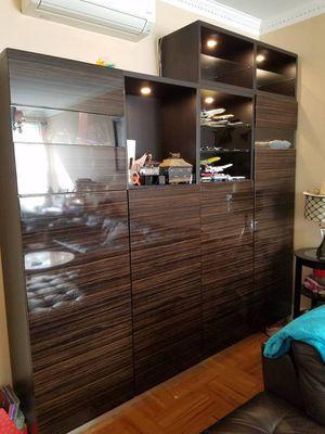 Ikea BESTA storage display wall unit shelves closet-$475(Sheepsheadbay) for Sale in Brooklyn, NY