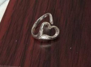 Solid 925 Sterling Silver ring open heart for Sale in Honolulu, HI
