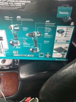 Makita 18v lxt lithium- on brushless cordless 2pc. Combo kit hammer drill/impact driver for Sale in Abingdon, MD