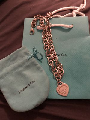 Tiffany and co please return to Tiffany's heart tag necklace silver for Sale in Jacksonville, FL