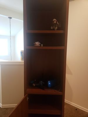 Tall Bookshelves with Cabinet for Sale in Kirkland, WA