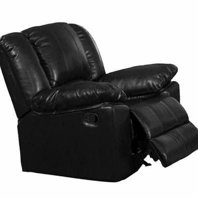 Rocking Recliner Chair, 39 by 38 by 40-Inch, Black.