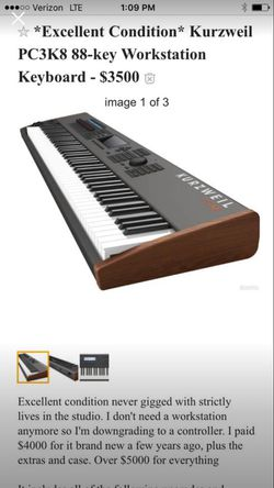 KurzWeil workstation/keyboard/piano for Sale in Bend,  OR