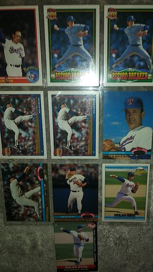 Nolan Ryan baseball card collection for Sale in Westminster, MD