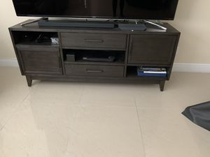 """66"""" Dark Brown TV stand for Sale in FL, US"""