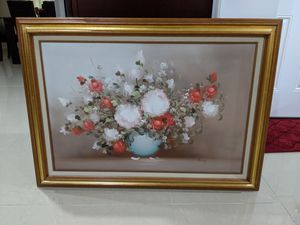 "Large Oil Painting Floral Picture Frame 43"" for Sale in Chantilly, VA"
