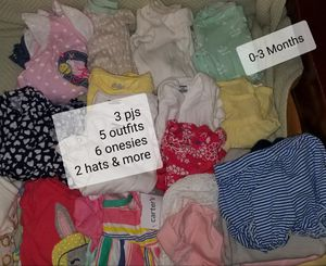 Girls 0-3M Clothes Dresses, Onesies, Pants... for Sale in Philadelphia, PA