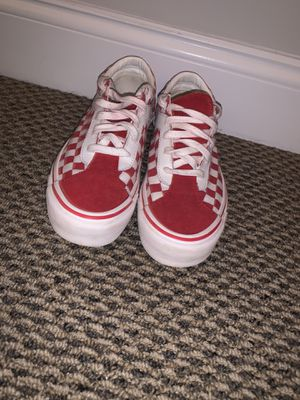 red and white checkerboard vans size 8 for Sale in Helmetta, NJ