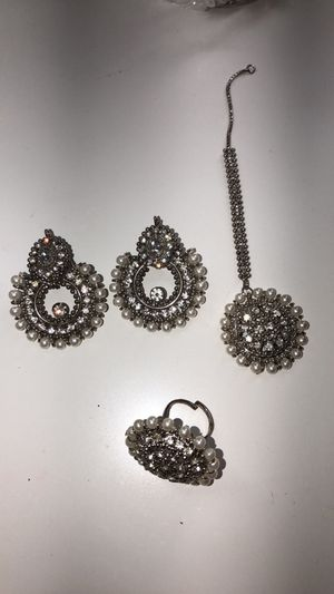 Earrings with Tikka and Ring for Sale in Centereach, NY