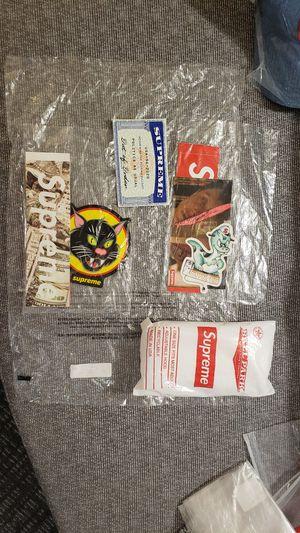 Supreme SS20 sticker packs, and bogo Poncho for Sale in Everett, WA