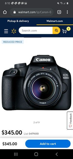 Canon 4000D dslr REBEL for Sale in Middletown, CT
