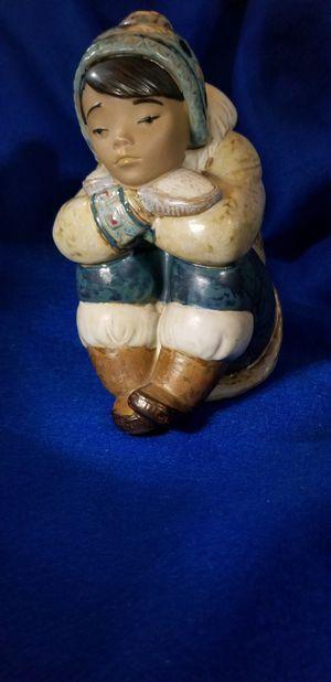❤️LLADRO PENSIVE ESKIMO Boy porcelain figurine for Sale in San Diego, CA