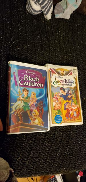 Vhs tapes black cauldron and snow white for Sale in Kent, WA