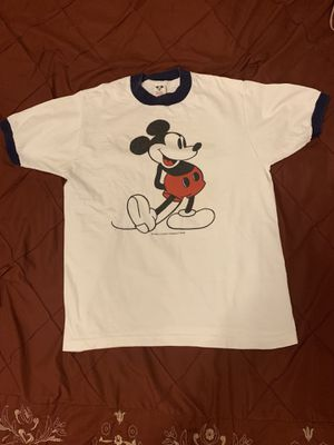 Vintage 1980's Mickey Mouse Ringer T-Shirt size medium but looks more like a small. Walt Disney Productions. for Sale in Chandler, AZ
