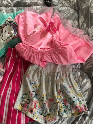 Girl dresses brand name 2T toddler girl unicorn pink flowers pattern for Sale in Downey, CA