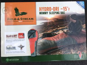 New Field And Stream Hydro-dri Mummy Sleeping Bag -15 Degrees for Sale in Plymouth Meeting, PA