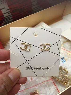 Channel earrings for Sale in Sacramento, CA