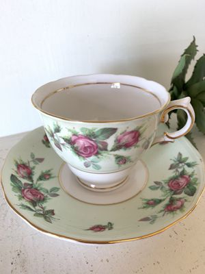 Colclough bone china made in England tea cup and saucer for Sale in El Cajon, CA