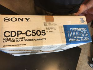 Sony CDP-C505 Multi CD player for Sale in Arlington Heights, IL