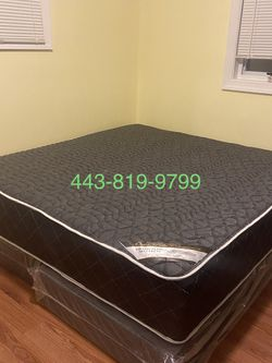 New Queen Mattress - Double Sides /14 Inch And Come With Free Box Spring - Free Delivery 🚚 Today for Sale in Laurel,  MD