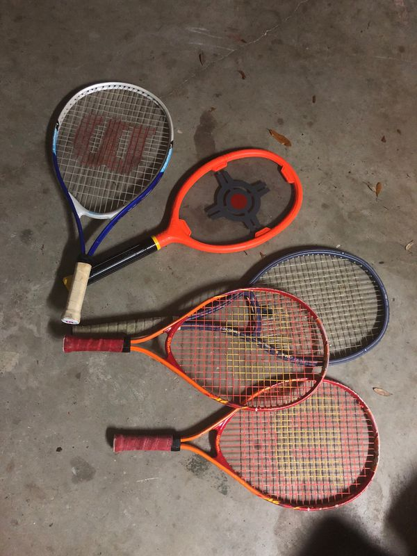 Five Tennis rackets