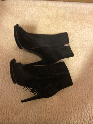 Peep toe fringe boots for Sale in Norcross, GA