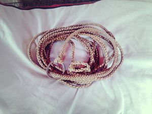 Rodeo Lasso Rope Hand Sewn Leather (artesanal) 50 feet Condition exelente for Sale in Miami, FL