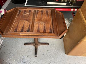 Antique backgammon table for Sale in Land O' Lakes, FL