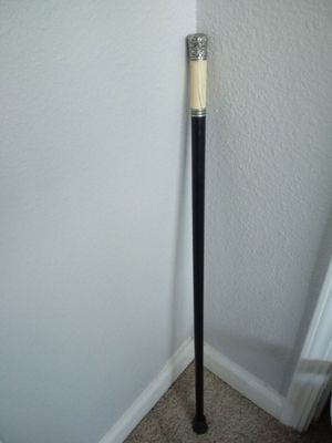 1887 Hallmarked Sterling and ivory Walking Stick Cane England for Sale in Stockton, CA