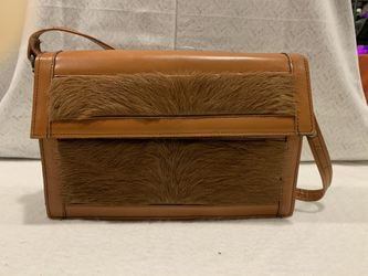 Brown Leather and Fur Messenger Bag for Sale in Arlington,  VA