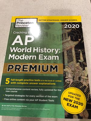 AP World history modern exam 2020 for Sale in Charlotte, NC