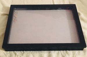 "Black frame Shadow box 16"" x 20"" x 2"" with wall mounts for Sale in Glendale, AZ"