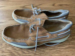 Magellan Outdoors Men's 13 Laguna Madre Boat Shoes FWMFMC2023 Tan Leather - EUC for Sale in Nazareth, PA
