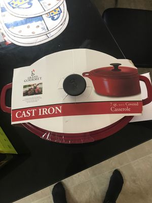 Grand Gourmet Cast Iron 7 qt for Sale in Columbus, OH