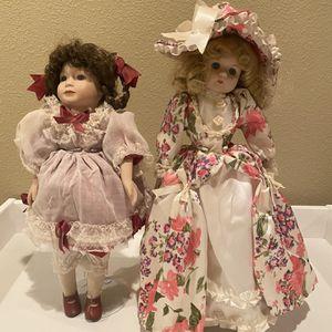 Set of 2 Vintage Porcelain Dolls for Sale in La Center, WA