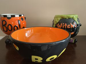 Halloween Containers and Bowl for Sale in Midland, TX