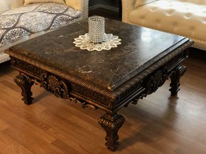 Marble Coffee table w/ end table & console table for Sale in St. Louis, MO