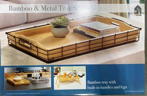 Brand New Bamboo Metal Tray for Sale in Fresno, CA