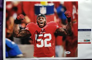 Patrick Willis Signed 11x14 Photo with PSA/DNA COA San Francisco 49ers NFL Auto for Sale in Hayward, CA