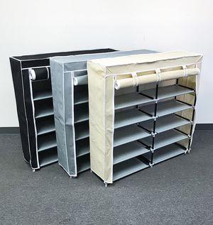 "New in box $25 each 6-Tiers 36 Shoe Rack Closet Fabric Cover Portable Storage Organizer Cabinet 43x12x43"" for Sale in Pico Rivera, CA"